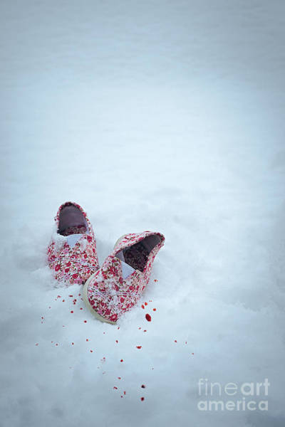 Wall Art - Photograph - Childs Shoes In Snow by Amanda Elwell