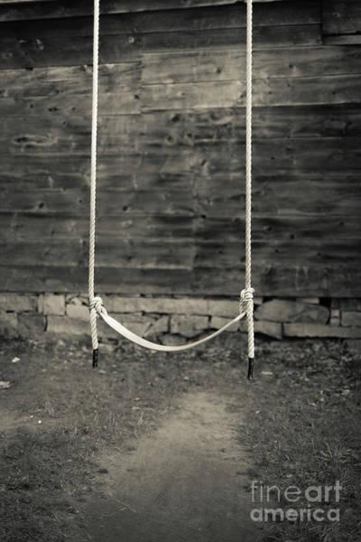 Wall Art - Photograph - Child's Swing On An Old Farm by Edward Fielding