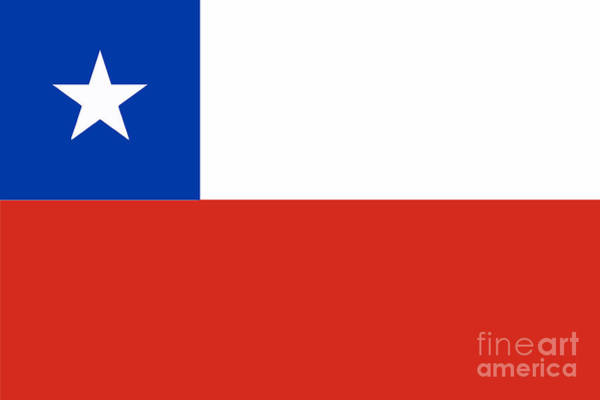 Flag Of Chile Wall Art - Digital Art - Chile by Bigalbaloo Stock