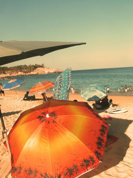 Bernadette Photograph - Chileno Beach Umbrellas by Bernadette Claffey