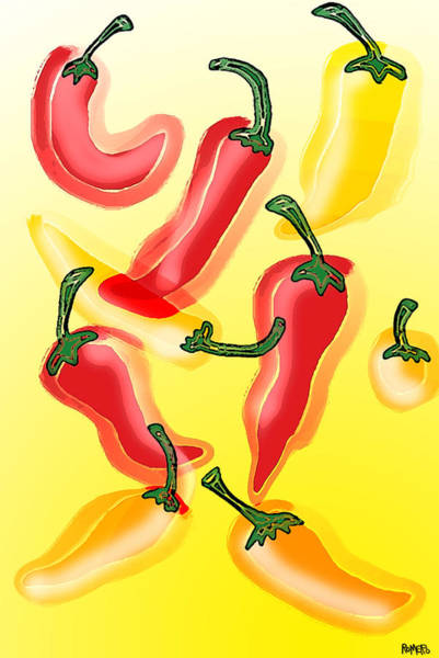 Wall Art - Painting - Chiles En El Sol by Antonio Romero