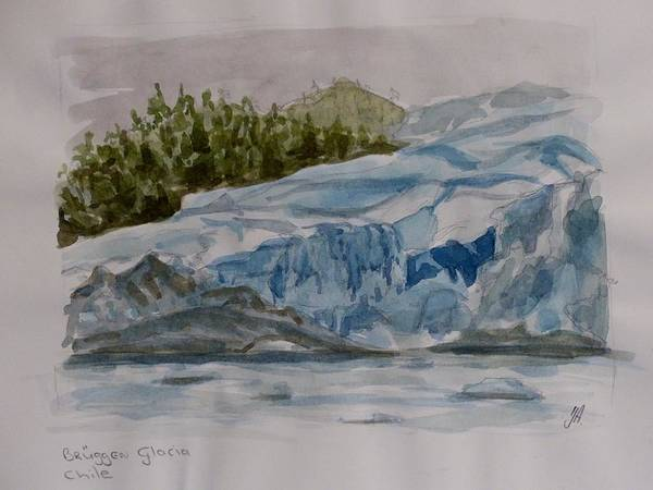 Wall Art - Painting - Chilian Fjords by Yvonne Ankerman