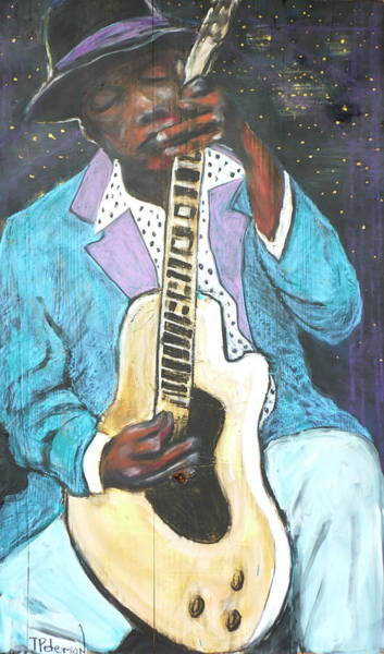 Painting - Chilin Blues John Lee Hooker by Todd  Peterson