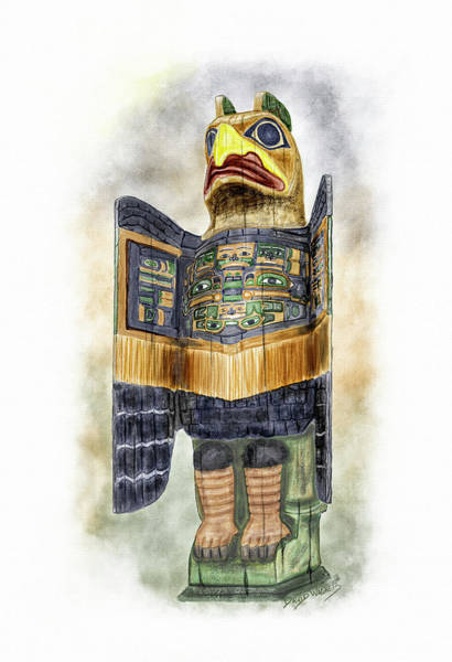 Wall Art - Painting - Chilkat Eagle by David Wagner