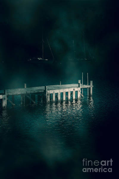 Chilling Photograph - Chilling Wood Mooring by Jorgo Photography - Wall Art Gallery
