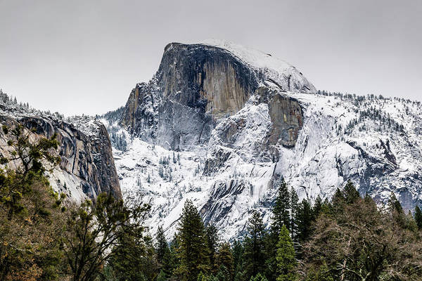 Photograph - Chilly Half Dome by Jack Peterson