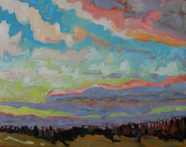 Watershed Painting - Chilly Stratocumulus by Phil Chadwick