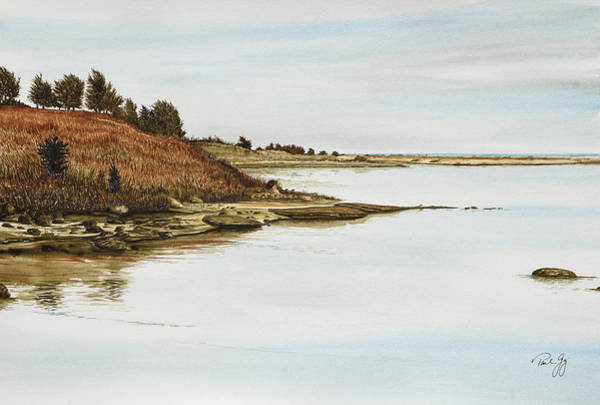 Painting - Chilmark Mv Stonewall Pond by Paul Gaj