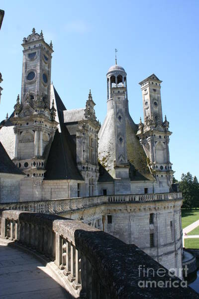 Chimnies Photograph - Chimney From Chambord - Loire by Christiane Schulze Art And Photography