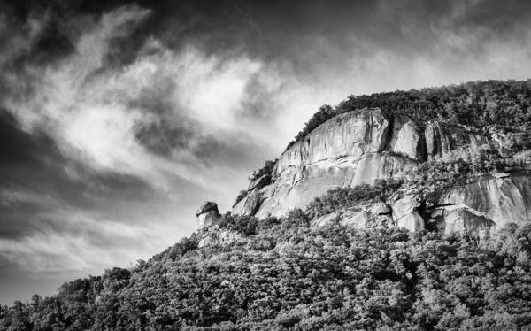 Photograph - Chimney Rock - Bw by Joye Ardyn Durham