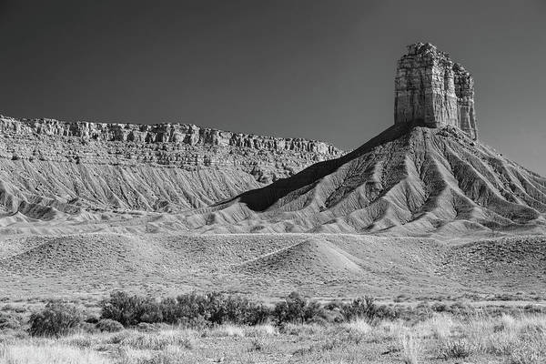 Photograph - Chimney Rock In Black And White - Towaoc Colorado by James BO Insogna