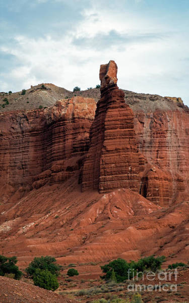 Photograph - Chimney Rock In Capital Reef by Cindy Murphy - NightVisions