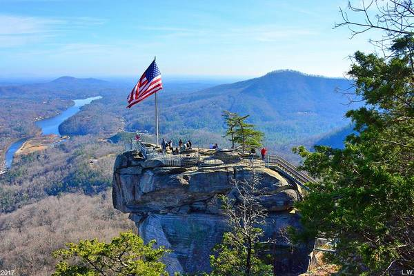 Photograph - Chimney Rock State Park Nc by Lisa Wooten