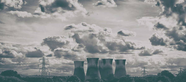 Power Station Wall Art - Photograph - Chimneys by Martin Newman