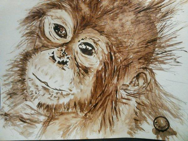 Wall Art - Painting - Chimp by Nathanael Manzer