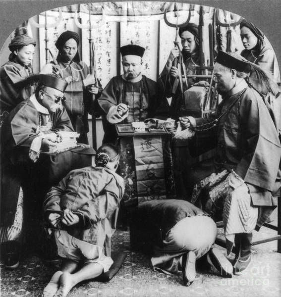 Photograph - China: Boxer Trial, C1900 by Granger