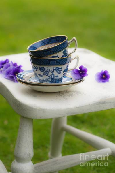 Saucer Photograph - China Cups by Amanda Elwell