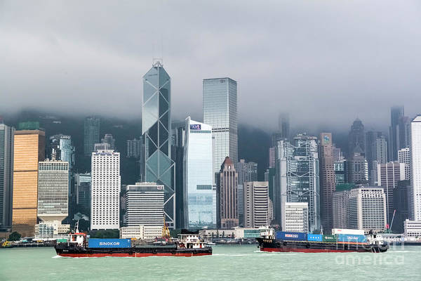 Wall Art - Photograph - China, Hong Kong From The Ferry by Ohad Shahar