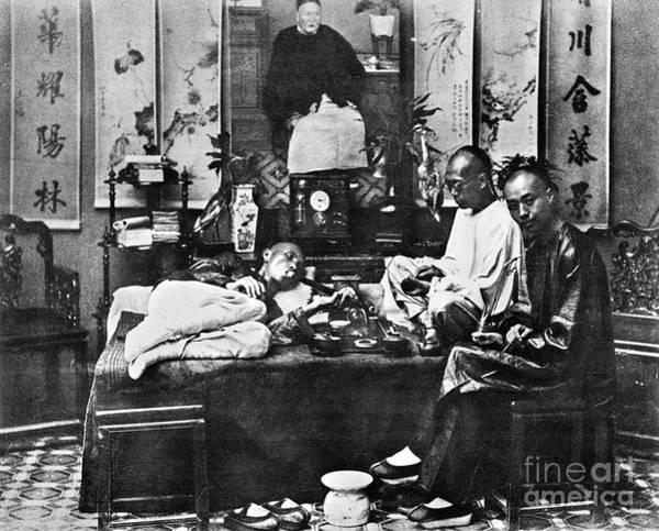 China: Opium Smokers Art Print