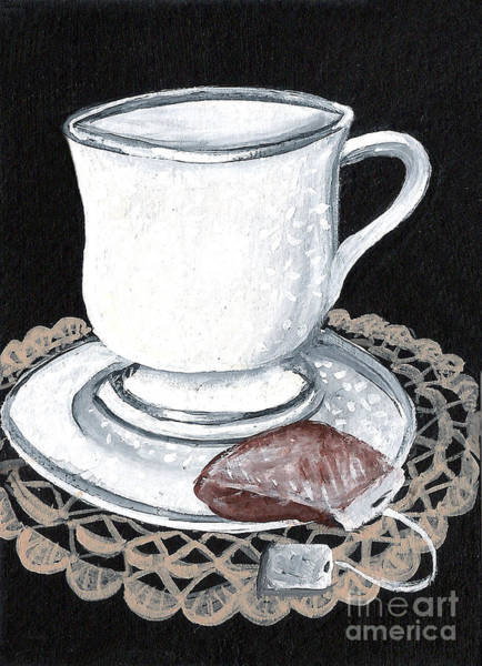 Doily Painting - China Tea Cup by Elaine Hodges