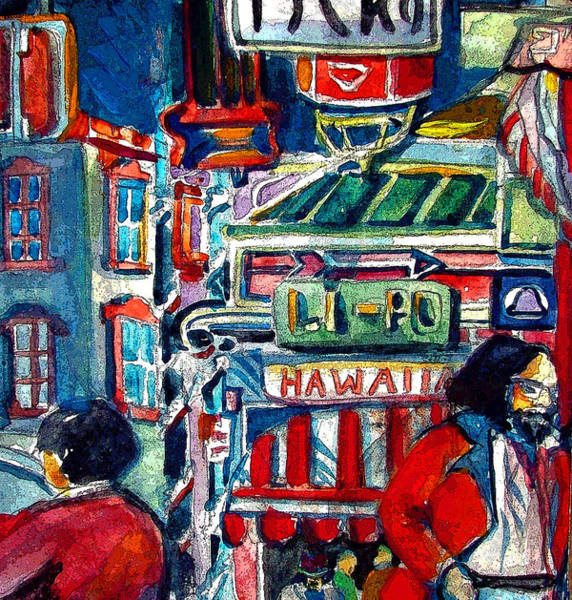 China Town Painting - China Town by Mindy Newman