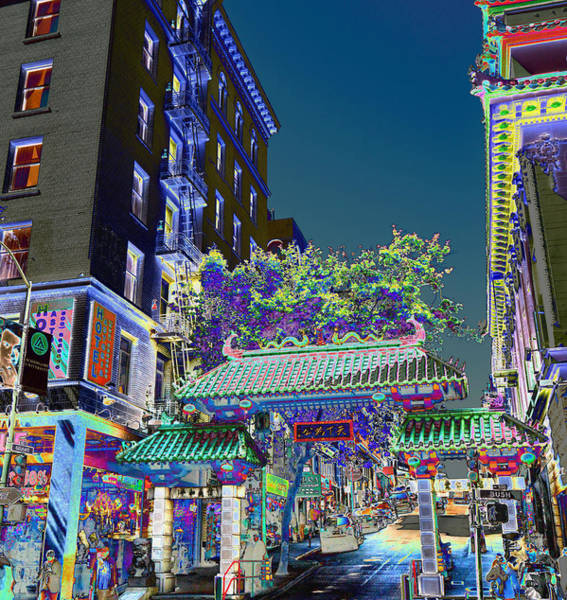 China Town / Shades Of Blue Art Print
