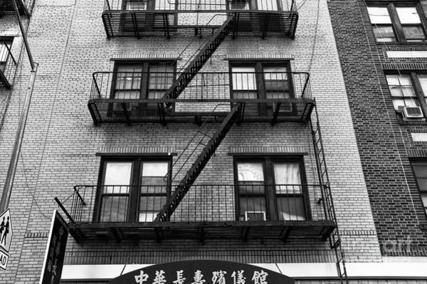 Photograph - Chinatown Apartment Mono by John Rizzuto