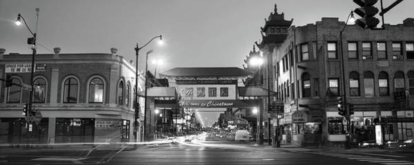 Wall Art - Photograph - Chinatown Chicago Bw by Steve Gadomski