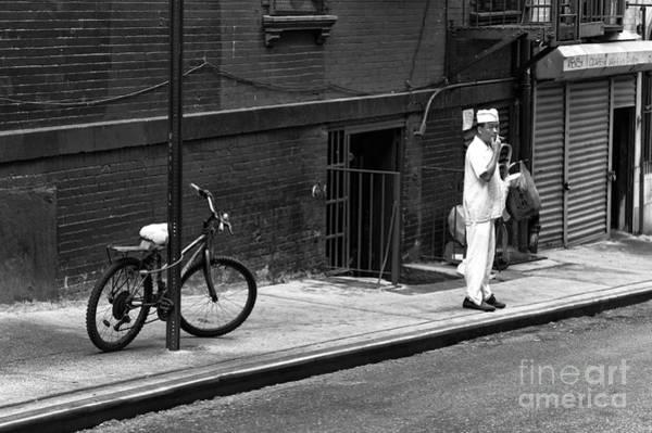 Photograph - Chinatown Cigarette Break Mono by John Rizzuto
