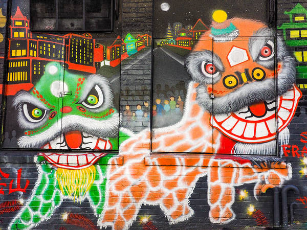 Photograph - Chinatown Dragons by Robin Zygelman