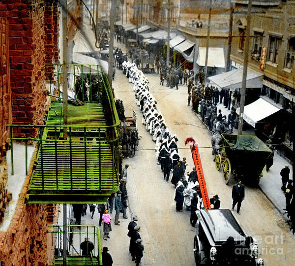 Photograph - Chinatown Funeral Procession In San Francisco  California Chinatown  by California Views Archives Mr Pat Hathaway Archives