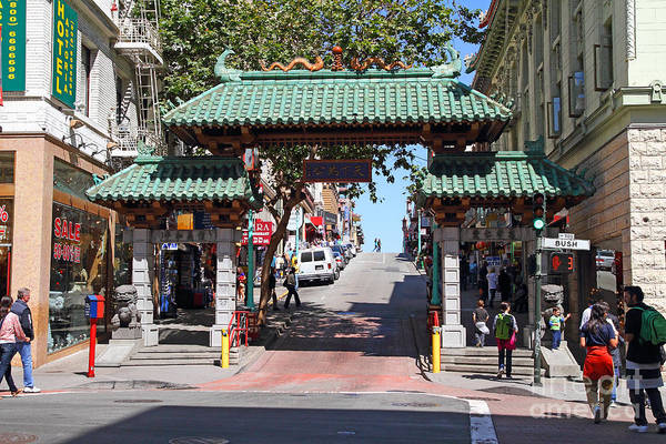 Photograph - Chinatown Gate On Grant Avenue In San Francisco by Wingsdomain Art and Photography