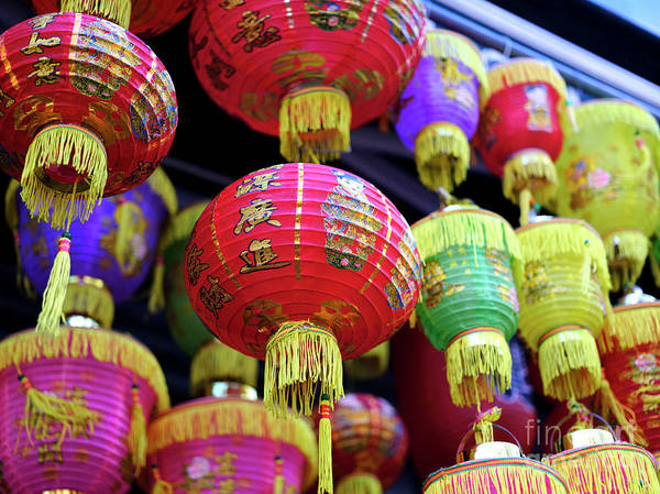 Photograph - Chinatown Lanterns by John Rizzuto