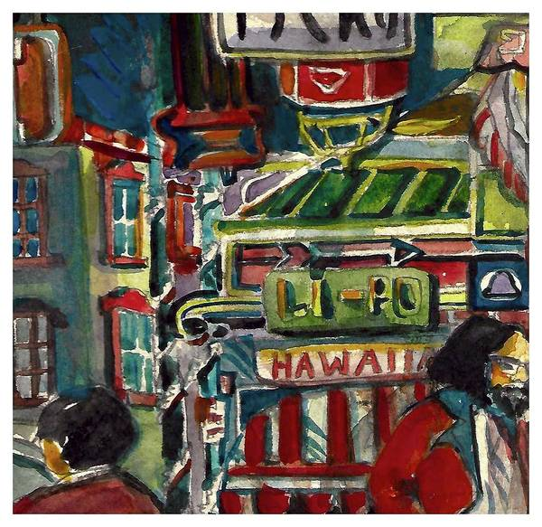 Wall Art - Painting - Chinatown by Mindy Newman
