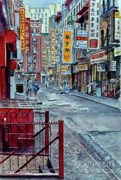 Wall Art - Painting - Chinatown, Nyc by Anthony Butera