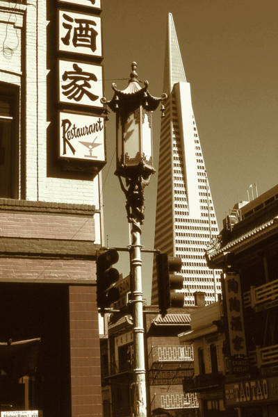 Photograph - Chinatown San Francisco - Vintage Photo Art by Peter Potter