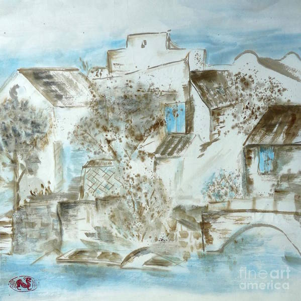 China Town Painting - Chinese Water Town by Birgit Moldenhauer