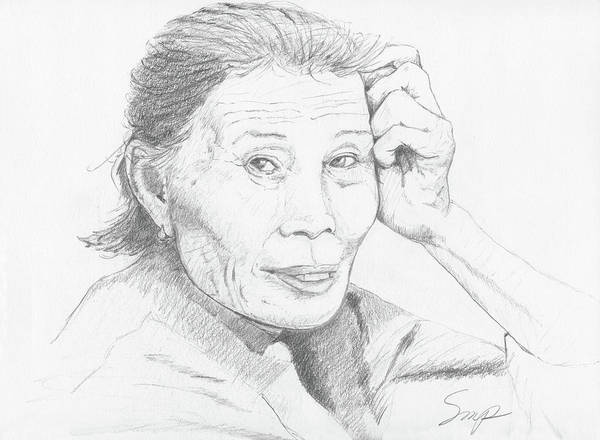Drawing - Chineese Women by Steven Powers SMP