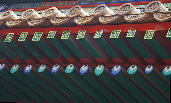 Photograph - Chines Architecture Detail by David Coblitz