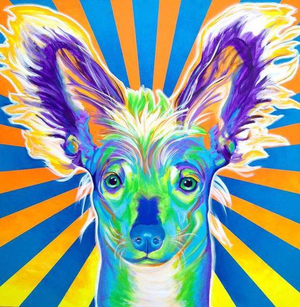 Wall Art - Painting - Chinese Crested - Doodles by Alicia VanNoy Call