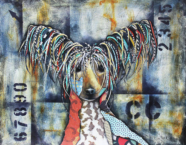 Mixed Media - Chinese Crested by Patricia Lintner
