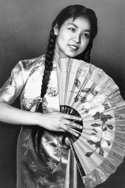 Photograph - Chinese Fan, C1958 by Granger
