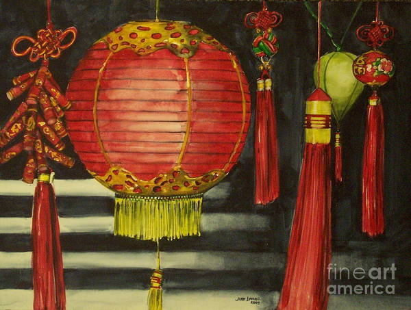 Painting - Chinese Lanterns No. 1 by Jane Loveall