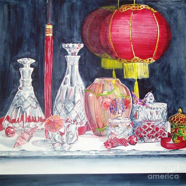 Painting - Chinese Lanterns No. 2 by Jane Loveall