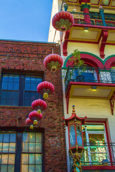 Photograph - Chinese Lanterns Over Grant Street by Bonnie Follett