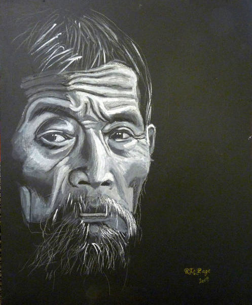 Painting - Chinese Man by Richard Le Page