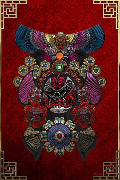Digital Art - Chinese Masks - Large Masks Series - The Demon by Serge Averbukh