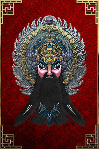 Digital Art - Chinese Masks - Large Masks Series - The Emperor by Serge Averbukh