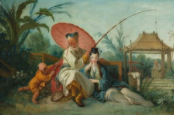 Wall Art - Painting - Chinese Motif by Francois Boucher
