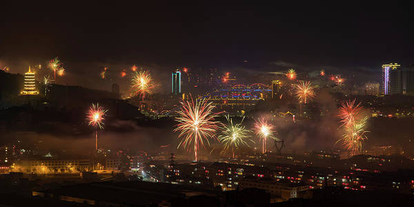 Photograph - Chinese New Year Fireworks 2018 I by William Dickman